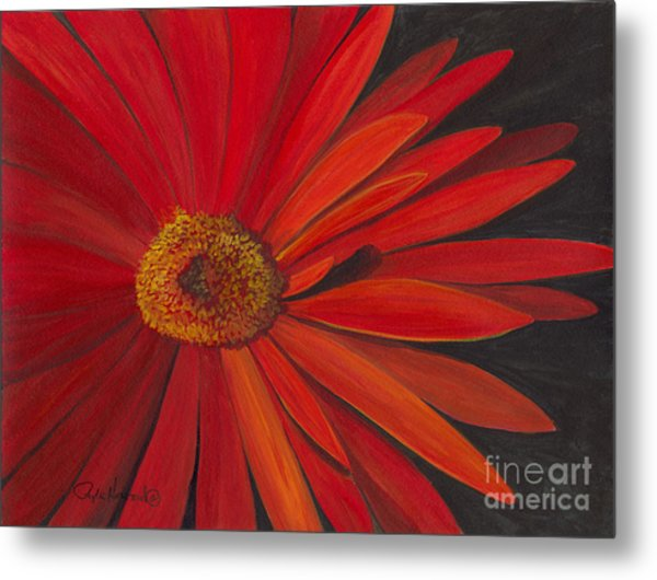 Glowing Gerber Metal Print