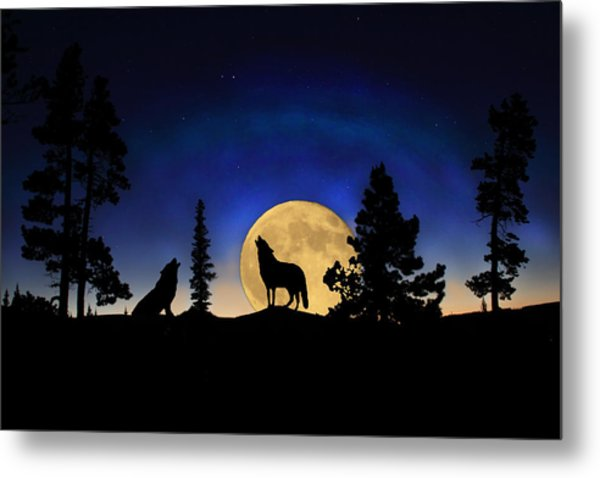 Glowing Horizon Metal Print