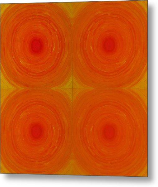 Glowing Orange Metal Print