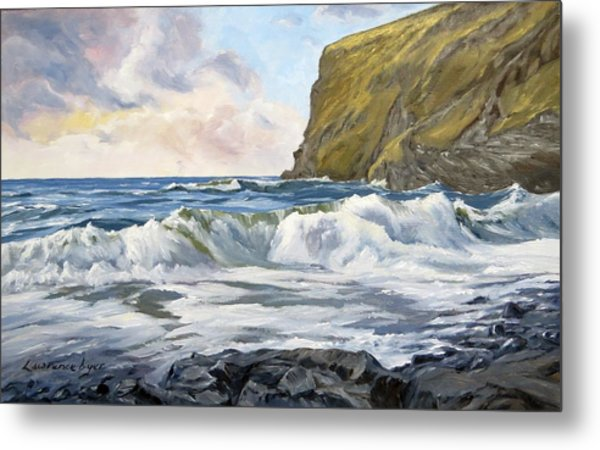 Metal Print featuring the painting Glowing Sky At Pencannow Point by Lawrence Dyer