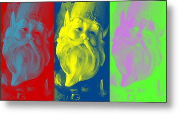 Gnomes In Crazy Color Metal Print by Jennifer Coleman