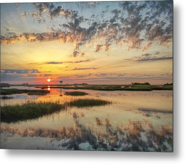 Sunrise Sunset Photo Art - Go In Grace Metal Print
