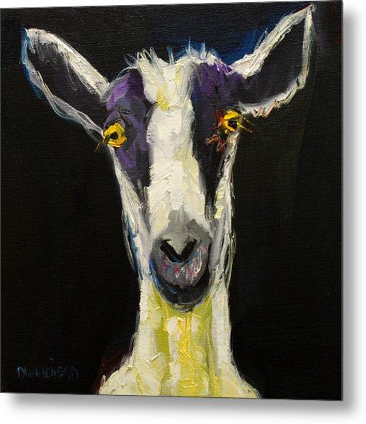 Goat Gloat Metal Print