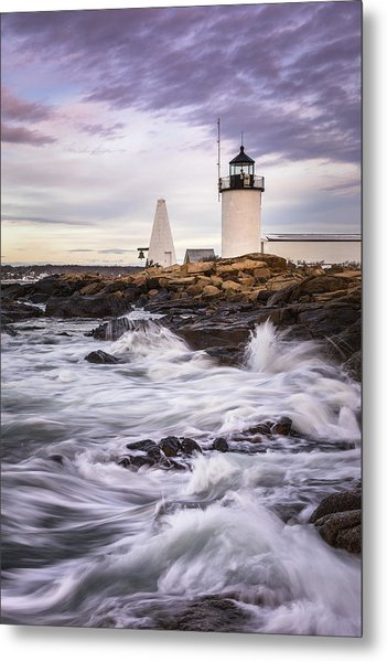 Goat Island Lighhouse Metal Print