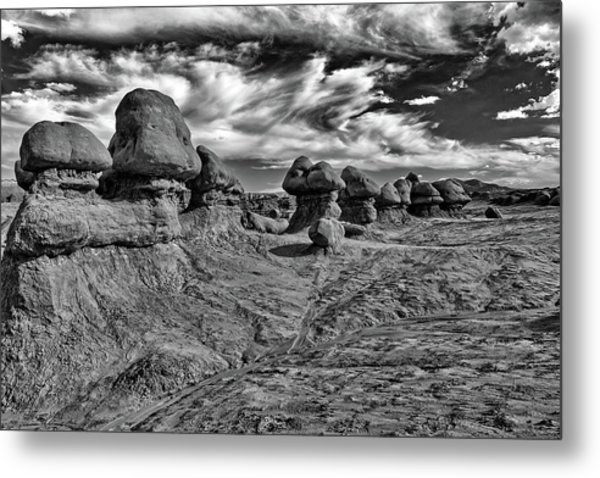 Goblins All In A Row Metal Print