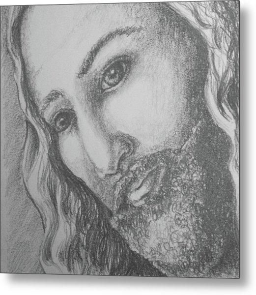 God Became Man Metal Print