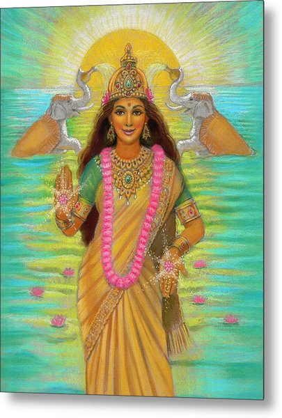 Goddess Lakshmi Metal Print