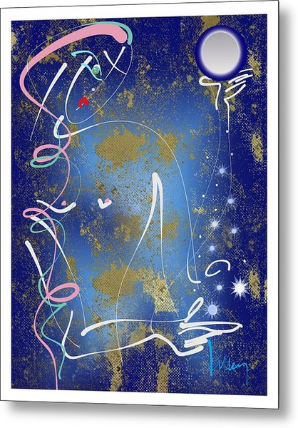 Metal Print featuring the mixed media Goddess Of The Night Sky by Larry Talley