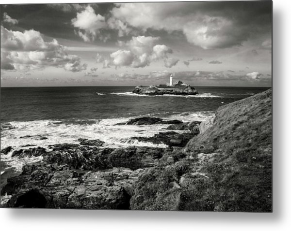 Godrevy Lighthouse 1 Metal Print