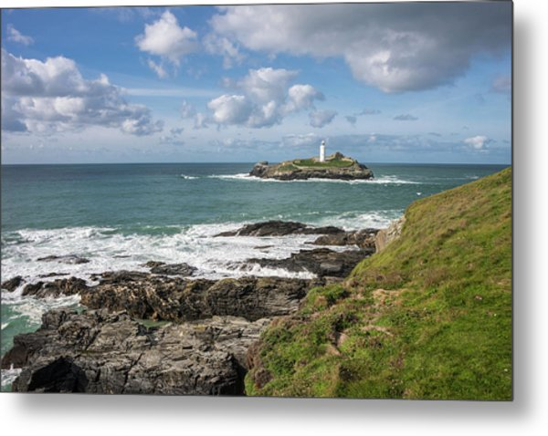 Godrevy Lighthouse 3 Metal Print