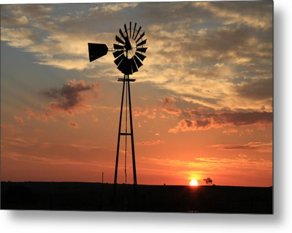 God's Country At Sunrise Metal Print