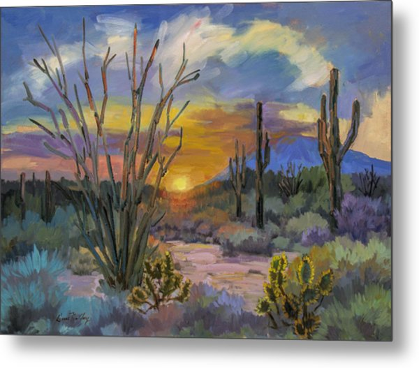 God's Day - Sonoran Desert Metal Print