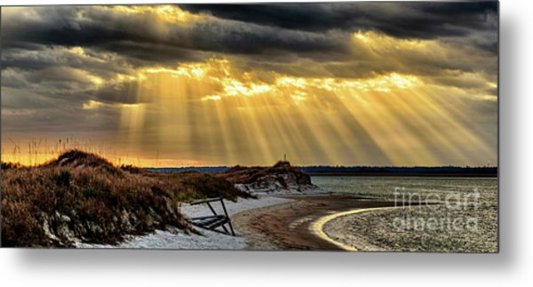 God's Light Metal Print