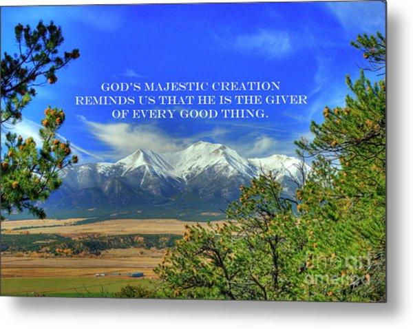 God's Majestic Creation Metal Print