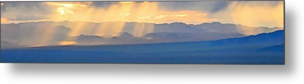 God's Rays Over The Great Basin  Metal Print