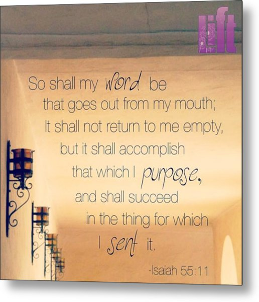 God's Word Has #creative #power Metal Print