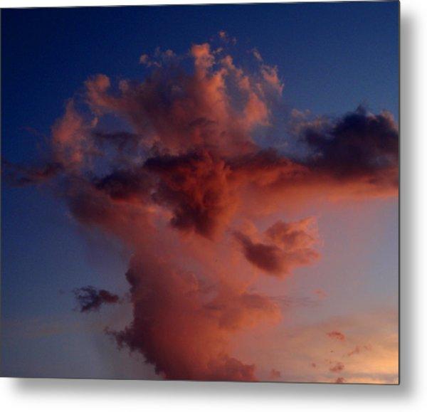 Godzilla Cloud-debbie-may Metal Print by Debbie May