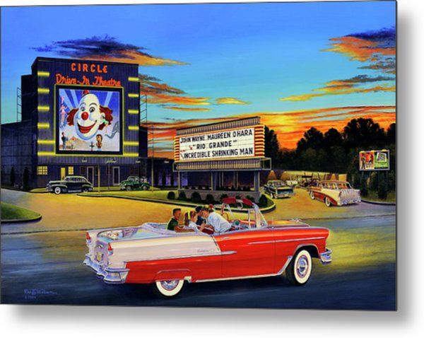 Goin' Steady - The Circle Drive-in Theatre Metal Print