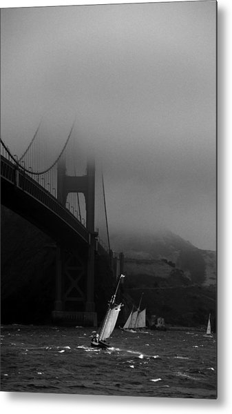 Going Around Traffic Metal Print