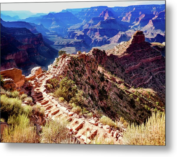 Going Down Metal Print