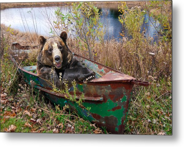 Going Fishing Metal Print by Maria Dryfhout