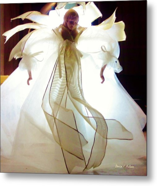 Gold And White Angel Metal Print