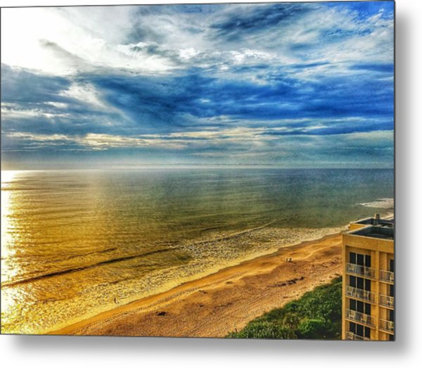 Gold Beach  Metal Print