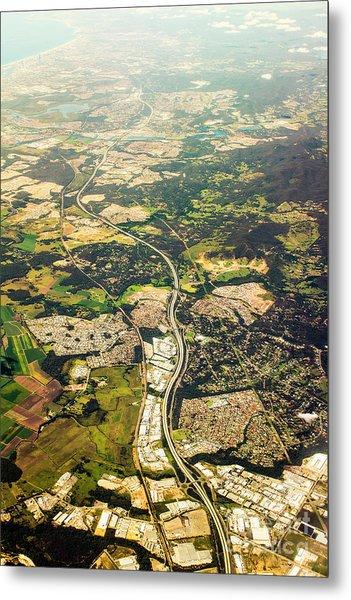 Gold Coast Aerial Photograph Metal Print