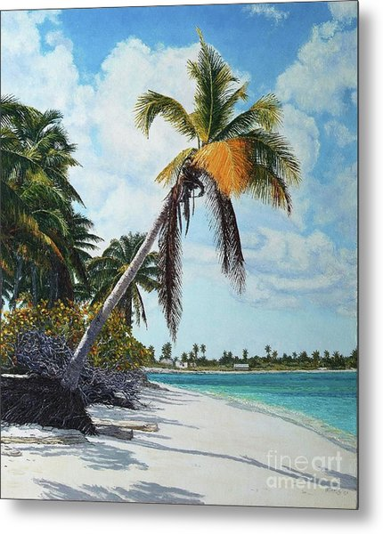 Gold Coconut Metal Print