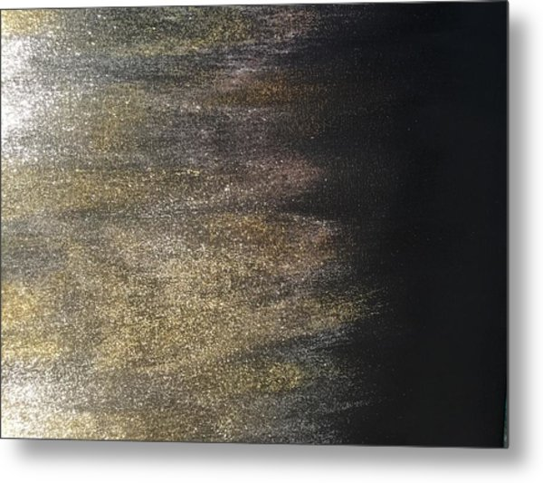 Gold Dusty Night Metal Print