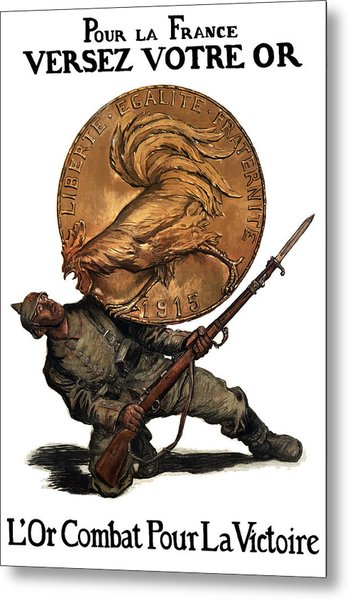 Gold Fights For Victory Metal Print