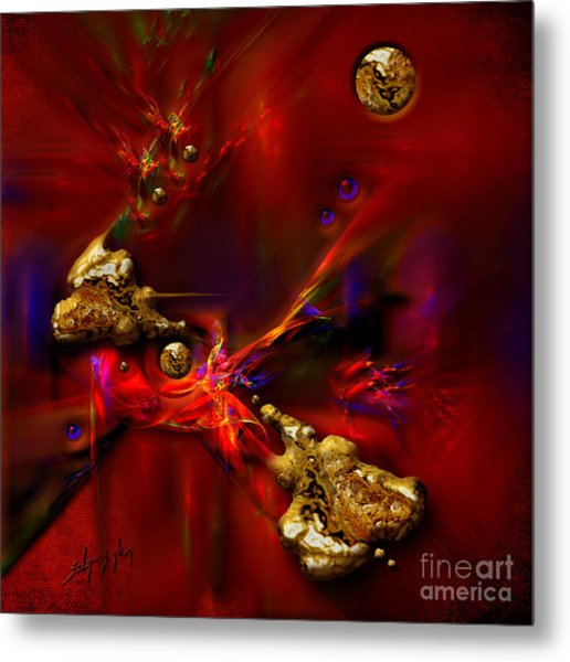 Gold Foundry Metal Print