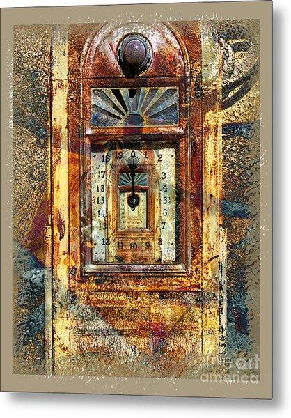 Gold Mine Gas Pump Metal Print by Chuck Brittenham