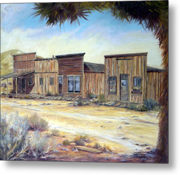 Gold Point Nevada Metal Print by Evelyne Boynton Grierson