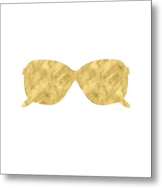 Gold Shades- Art By Linda Woods Metal Print