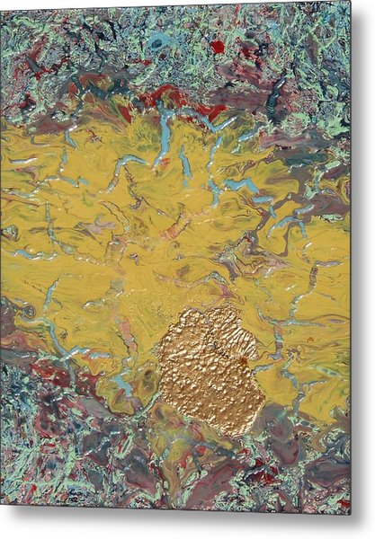 Gold Spot Metal Print