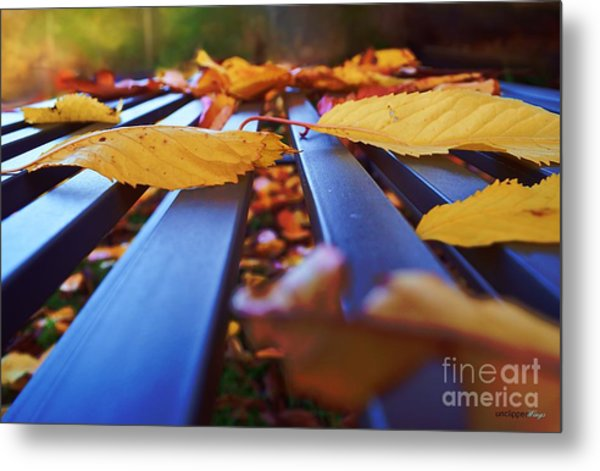Gold Topped Table Metal Print