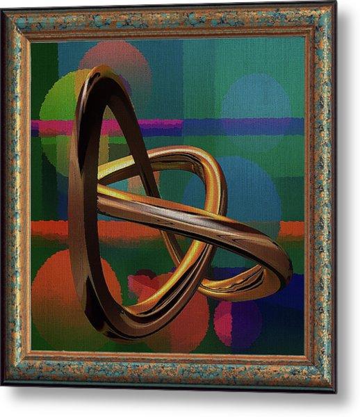 Golden Abstract Metal Print