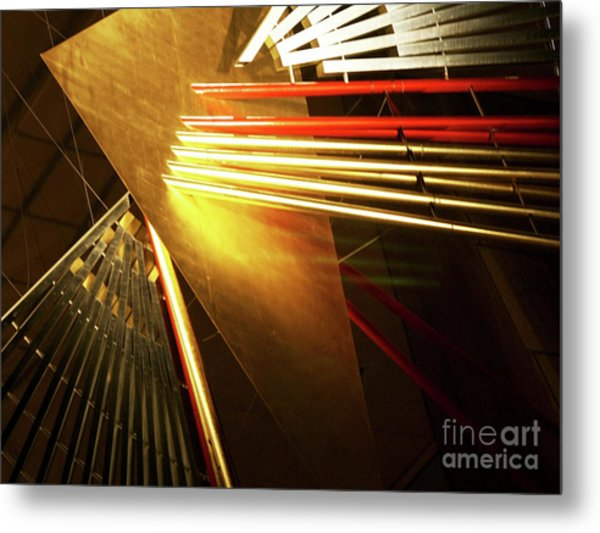Golden Abstract Metal Print