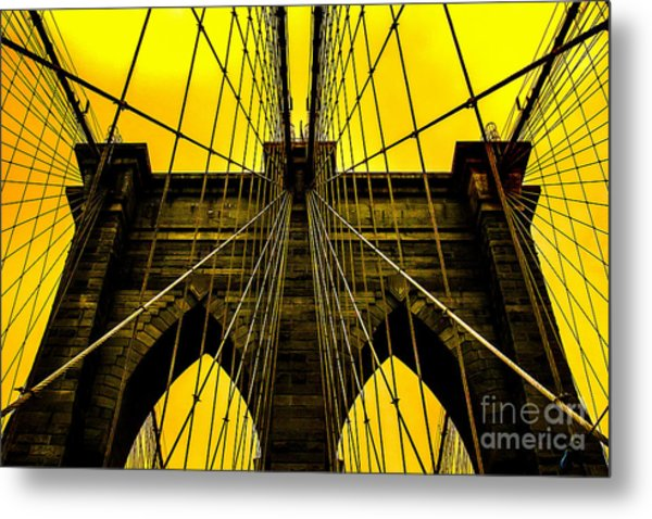 Golden Arches Metal Print
