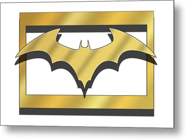 Golden Bat Metal Print