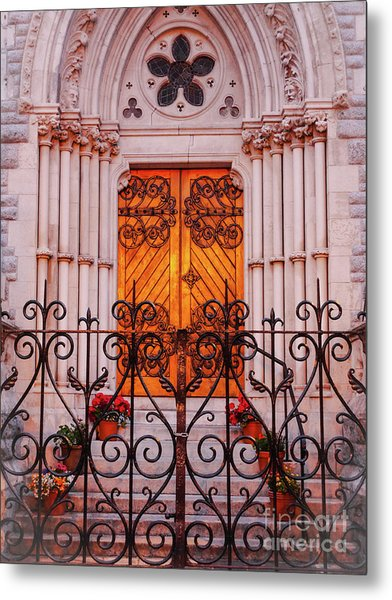 Golden Church Door Metal Print