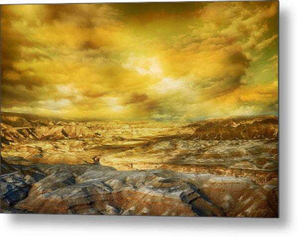 Golden Colors Of Desert Metal Print
