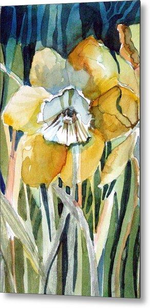 Golden Daffodil Metal Print