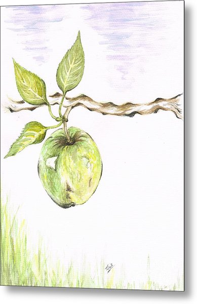 Golden Delishous Apple Metal Print