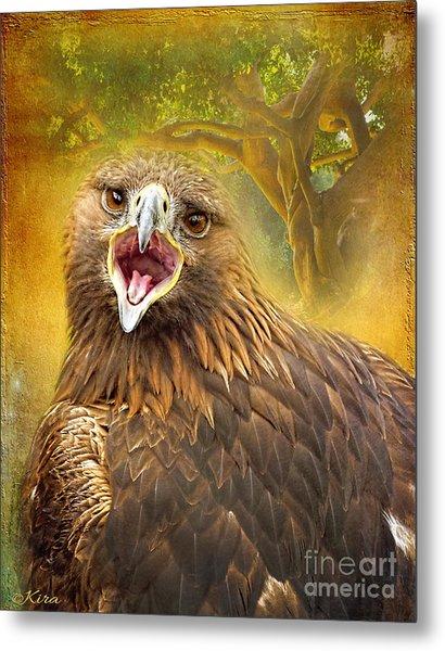Golden Eagle Call Metal Print