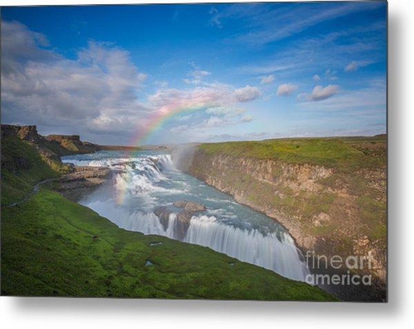 Golden Falls, Gullfoss Iceland Metal Print