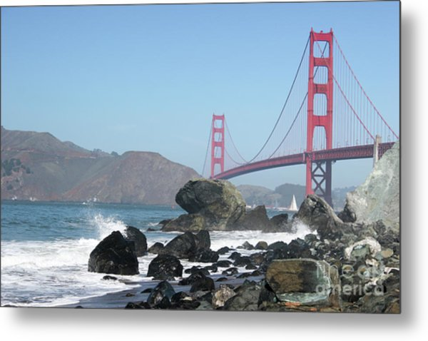 Golden Gate Beach Metal Print