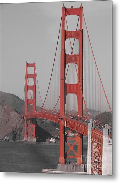 Golden Gate Black And White Metal Print by Jeff White