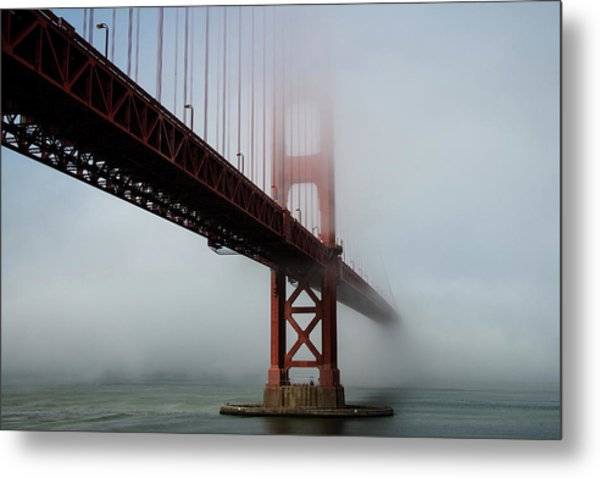 Metal Print featuring the photograph Golden Gate Bridge Fog 2 by Stephen Holst